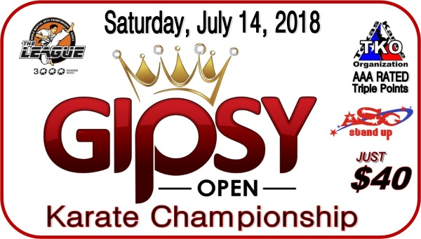 Gipsy Open 2018 TKO Qualifier Karate Championship on TournamentTiger - Tournament software by martial artists for martial artists.