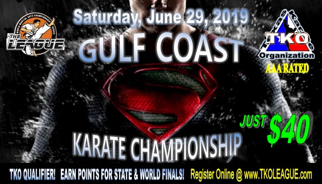 Gulf Coast Championship 2019 TKO Qualifier on TournamentTiger - Tournament software by martial artists for martial artists.