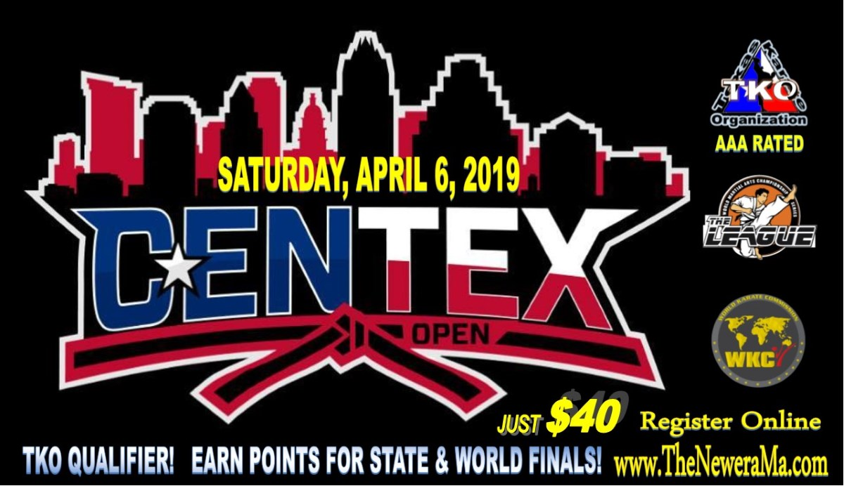 Centex Open 2019 TKO Qualifier on TournamentTiger - Tournament software by martial artists for martial artists.