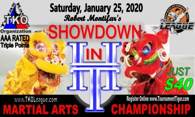 Showdown in H-Town 2020 TKO Qualifier on TournamentTiger - Tournament software by martial artists for martial artists.