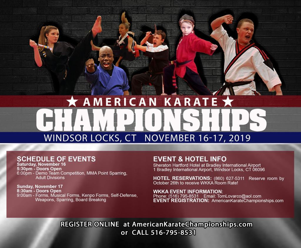 American Karate Championships on TournamentTiger - Tournament software by martial artists for martial artists.