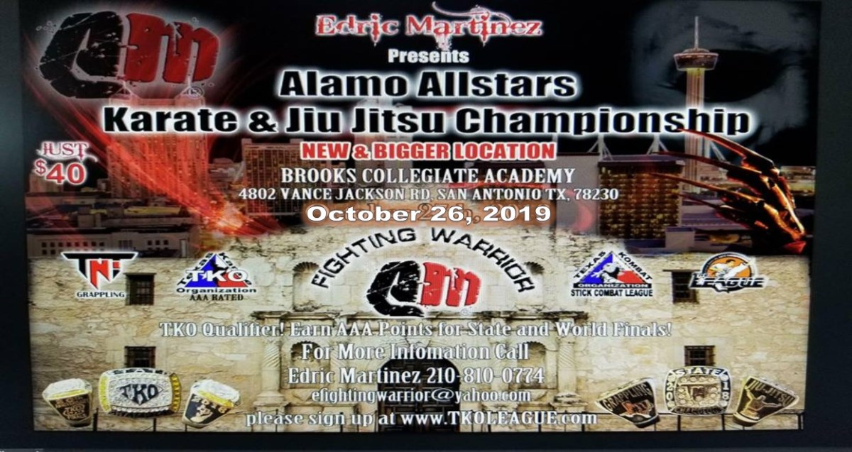 Alamo AllStars 2019 TKO Qualifier on TournamentTiger - Tournament software by martial artists for martial artists.
