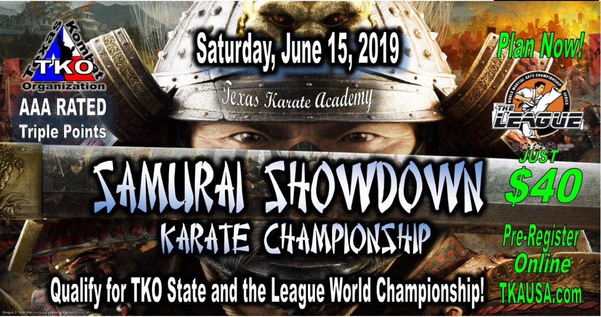 Samurai Showdown 2019 TKO Qualifier on TournamentTiger - Tournament software by martial artists for martial artists.