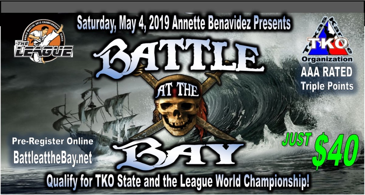 Battle at the Bay 2019 TKO Qualifier on TournamentTiger - Tournament software by martial artists for martial artists.