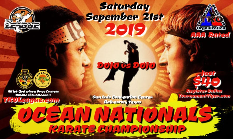 Ocean Nationals 2019 TKO Qualifier on TournamentTiger - Tournament software by martial artists for martial artists.
