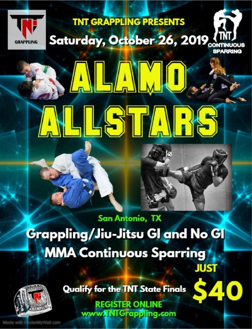 Alamo AllStars 2019 TNT Qualifier on TournamentTiger - Tournament software by martial artists for martial artists.